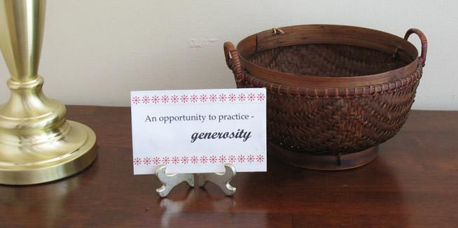 Generosity Policy